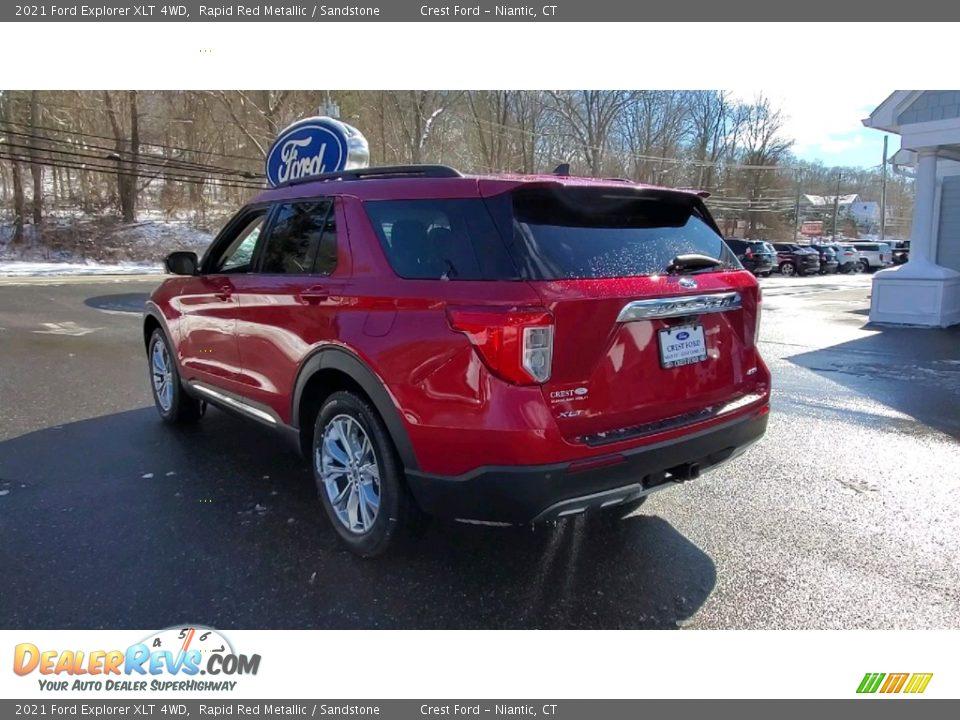 2021 Ford Explorer XLT 4WD Rapid Red Metallic / Sandstone Photo #5