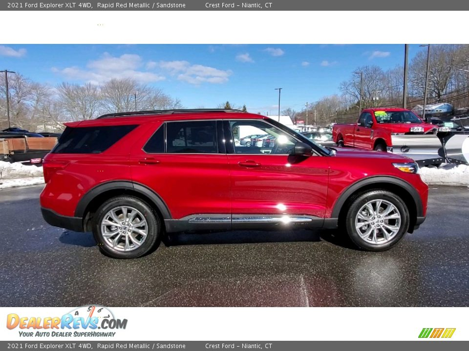 2021 Ford Explorer XLT 4WD Rapid Red Metallic / Sandstone Photo #8