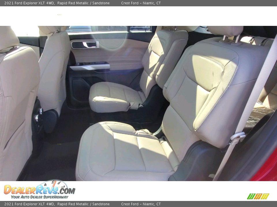 2021 Ford Explorer XLT 4WD Rapid Red Metallic / Sandstone Photo #18
