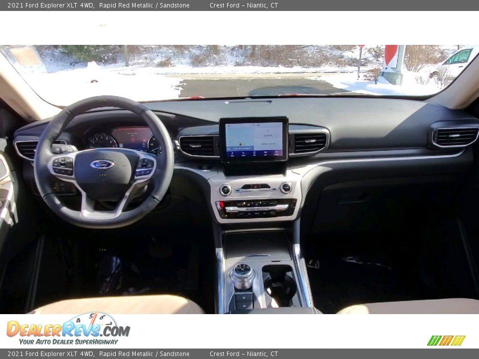 2021 Ford Explorer XLT 4WD Rapid Red Metallic / Sandstone Photo #19