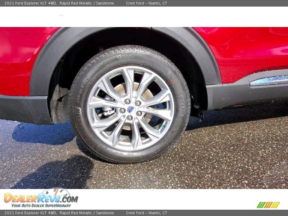 2021 Ford Explorer XLT 4WD Rapid Red Metallic / Sandstone Photo #22