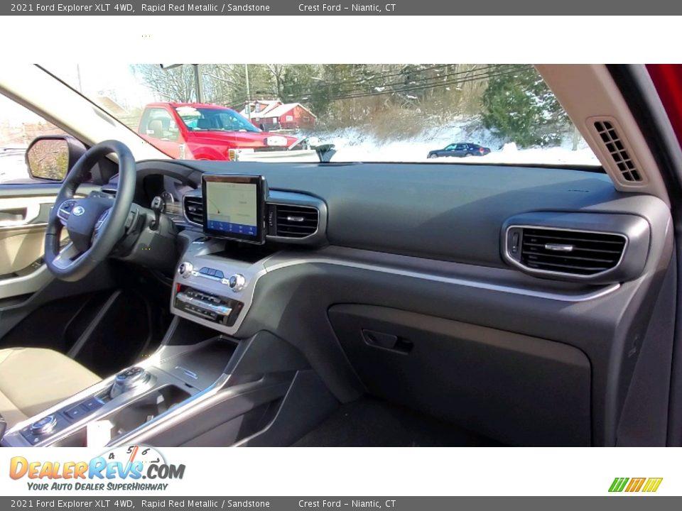 2021 Ford Explorer XLT 4WD Rapid Red Metallic / Sandstone Photo #26