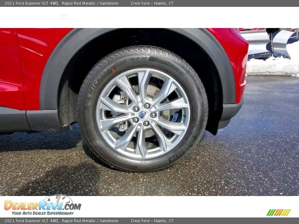 2021 Ford Explorer XLT 4WD Rapid Red Metallic / Sandstone Photo #27