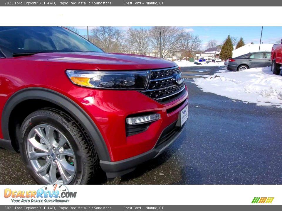 2021 Ford Explorer XLT 4WD Rapid Red Metallic / Sandstone Photo #28