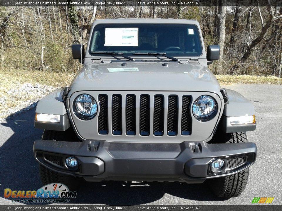 2021 Jeep Wrangler Unlimited Sahara Altitude 4x4 Sting-Gray / Black Photo #3