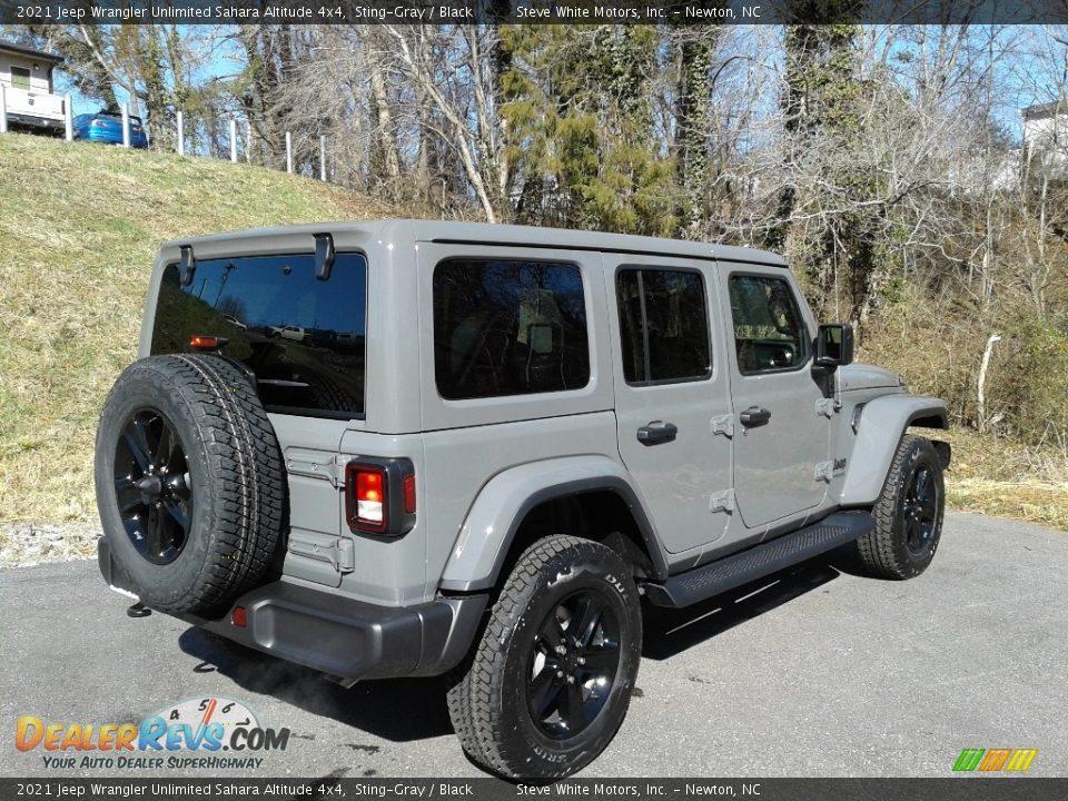 2021 Jeep Wrangler Unlimited Sahara Altitude 4x4 Sting-Gray / Black Photo #6