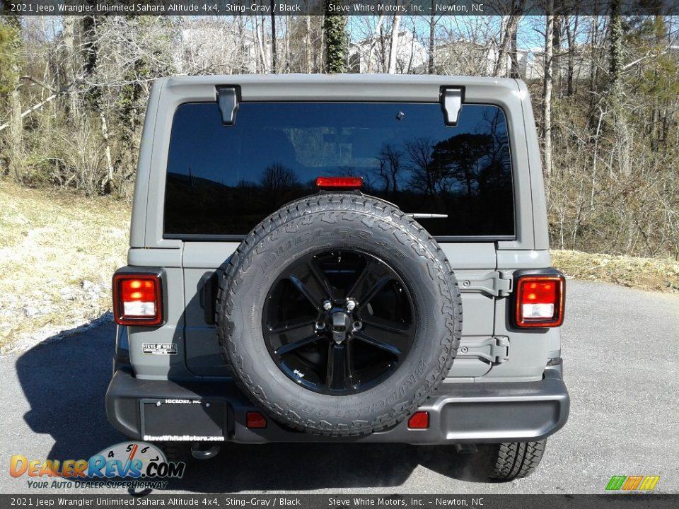 2021 Jeep Wrangler Unlimited Sahara Altitude 4x4 Sting-Gray / Black Photo #7