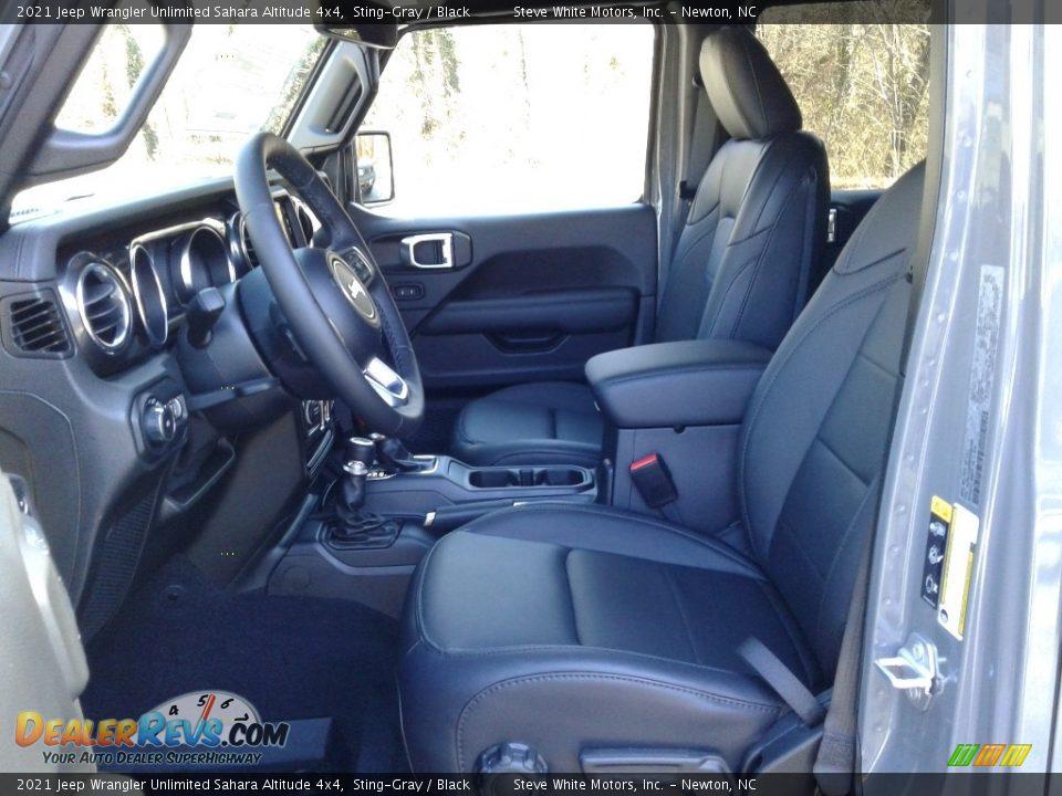 2021 Jeep Wrangler Unlimited Sahara Altitude 4x4 Sting-Gray / Black Photo #10