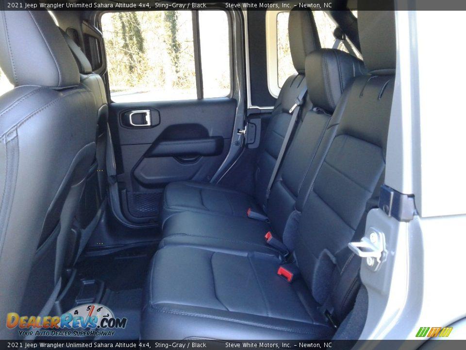 2021 Jeep Wrangler Unlimited Sahara Altitude 4x4 Sting-Gray / Black Photo #13
