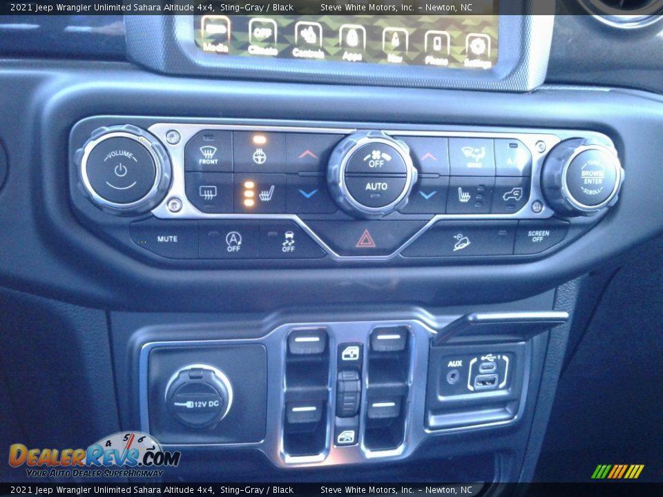 2021 Jeep Wrangler Unlimited Sahara Altitude 4x4 Sting-Gray / Black Photo #27