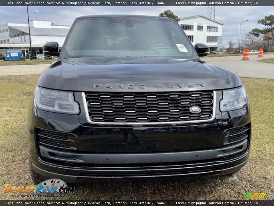 2021 Land Rover Range Rover SV Autobiography Dynamic Black Santorini Black Metallic / Ebony Photo #10