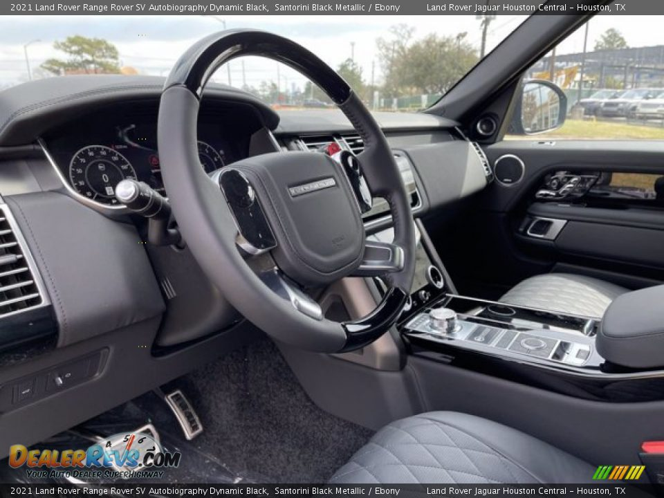 2021 Land Rover Range Rover SV Autobiography Dynamic Black Steering Wheel Photo #16