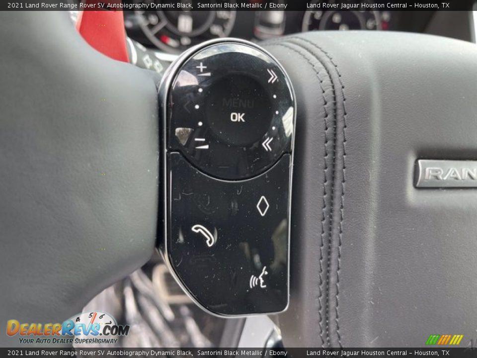 2021 Land Rover Range Rover SV Autobiography Dynamic Black Steering Wheel Photo #17