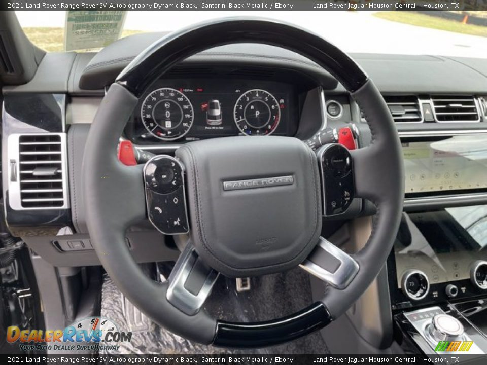 2021 Land Rover Range Rover SV Autobiography Dynamic Black Steering Wheel Photo #19