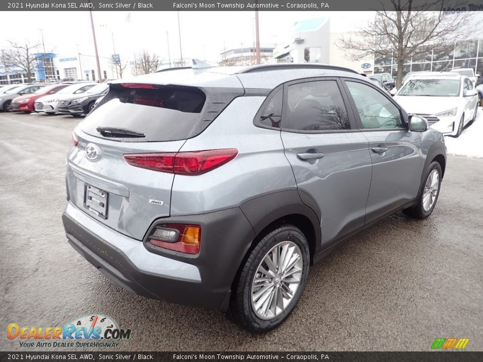 2021 Hyundai Kona SEL AWD Sonic Silver / Black Photo #2