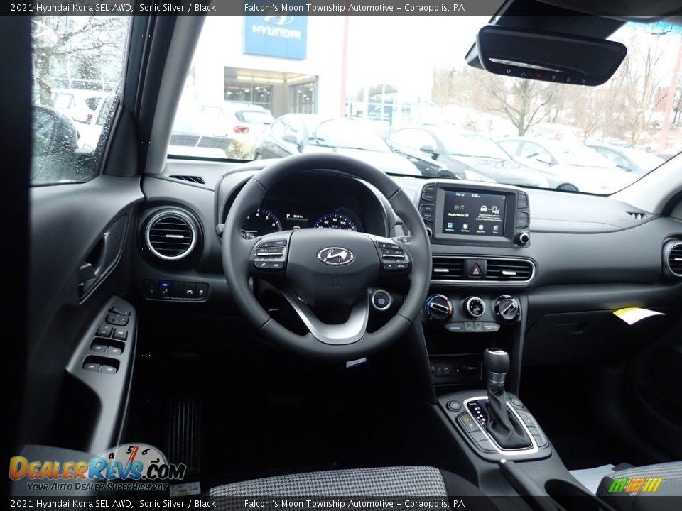 2021 Hyundai Kona SEL AWD Sonic Silver / Black Photo #9