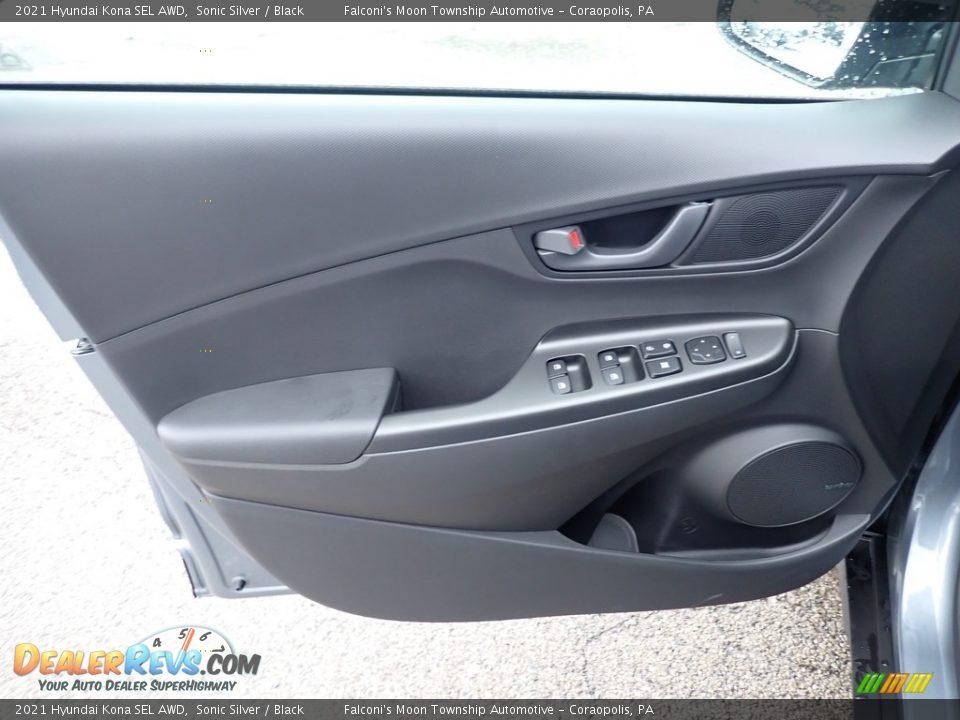2021 Hyundai Kona SEL AWD Sonic Silver / Black Photo #11