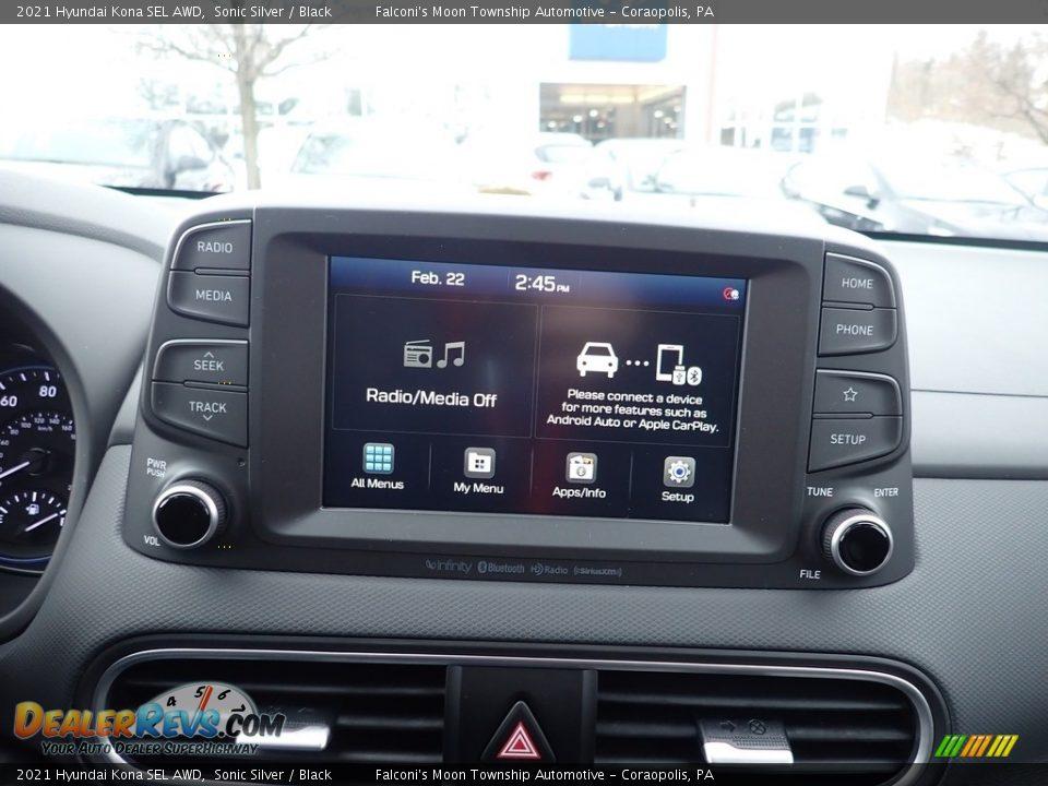 2021 Hyundai Kona SEL AWD Sonic Silver / Black Photo #13