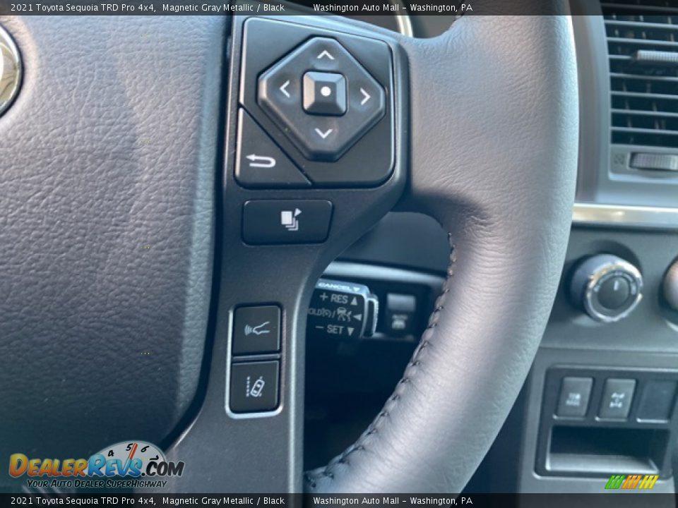2021 Toyota Sequoia TRD Pro 4x4 Steering Wheel Photo #7