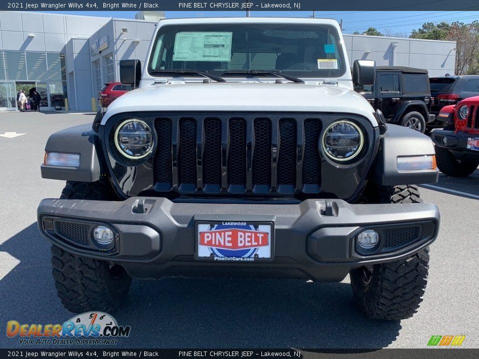 2021 Jeep Wrangler Willys 4x4 Bright White / Black Photo #3