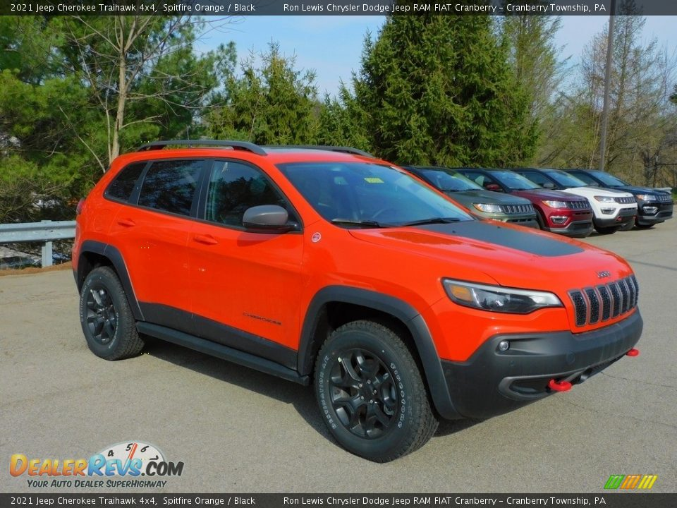 2021 Jeep Cherokee Traihawk 4x4 Spitfire Orange / Black Photo #3