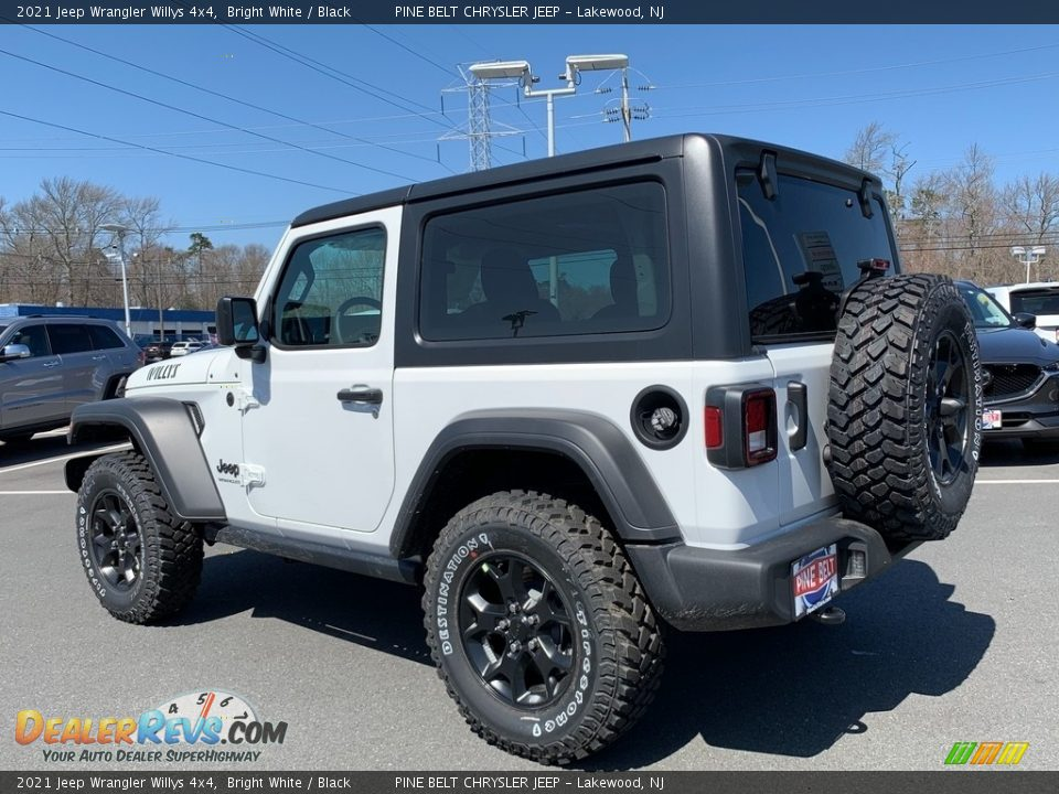 2021 Jeep Wrangler Willys 4x4 Bright White / Black Photo #6
