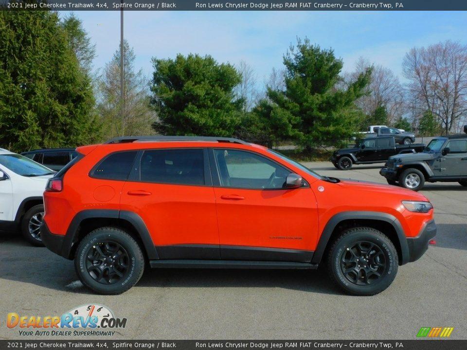 2021 Jeep Cherokee Traihawk 4x4 Spitfire Orange / Black Photo #4
