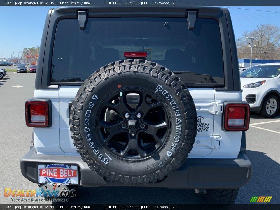 2021 Jeep Wrangler Willys 4x4 Bright White / Black Photo #7