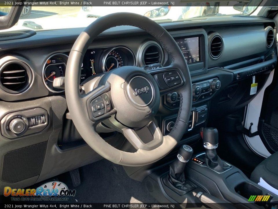 2021 Jeep Wrangler Willys 4x4 Bright White / Black Photo #9