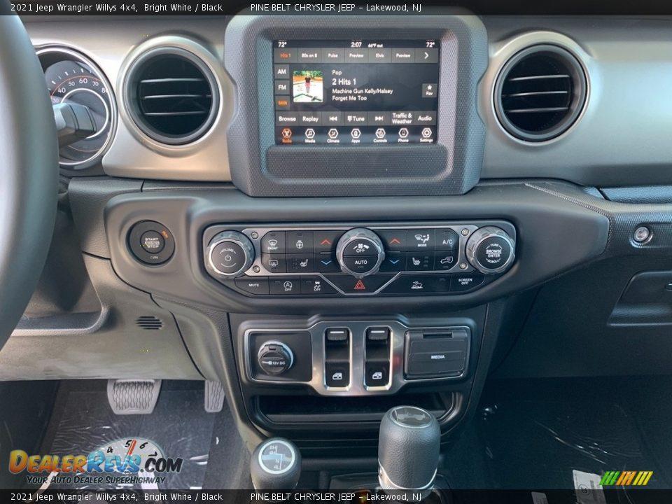 2021 Jeep Wrangler Willys 4x4 Bright White / Black Photo #11