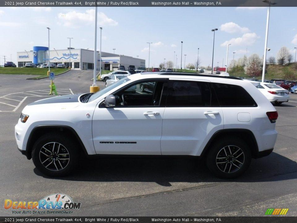 2021 Jeep Grand Cherokee Trailhawk 4x4 Bright White / Ruby Red/Black Photo #8