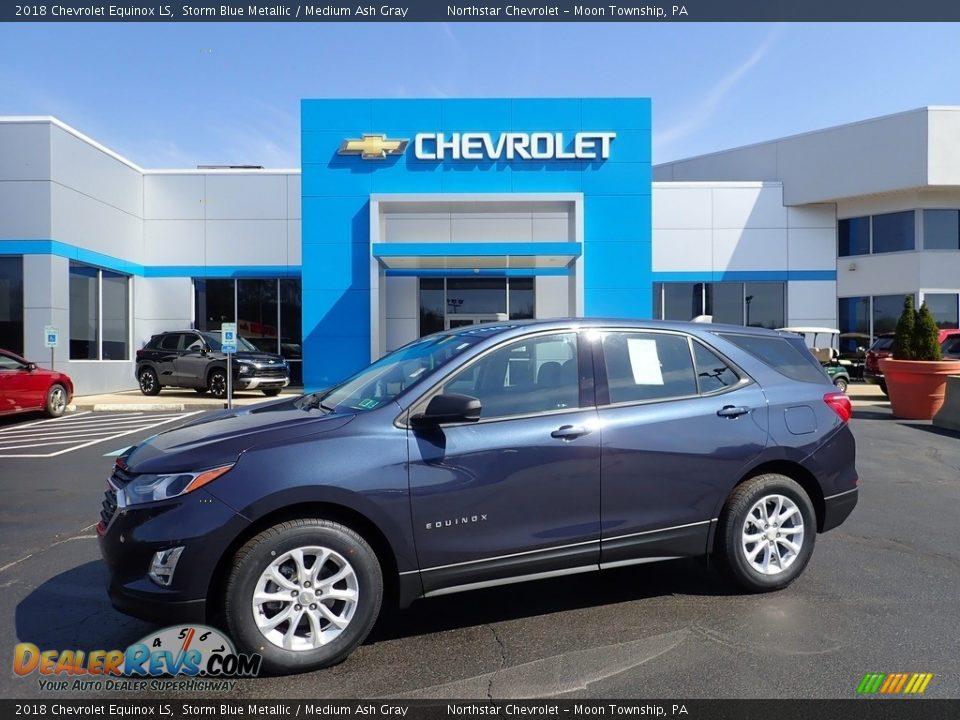 2018 Chevrolet Equinox LS Storm Blue Metallic / Medium Ash Gray Photo #1
