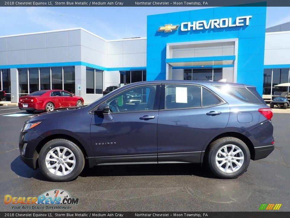 2018 Chevrolet Equinox LS Storm Blue Metallic / Medium Ash Gray Photo #3