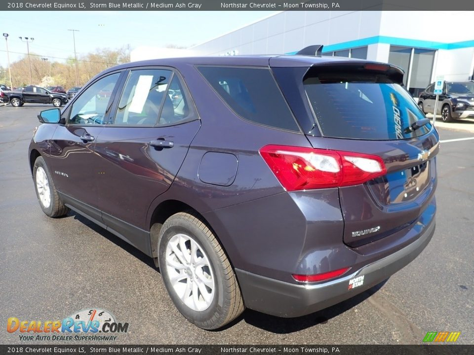 2018 Chevrolet Equinox LS Storm Blue Metallic / Medium Ash Gray Photo #4