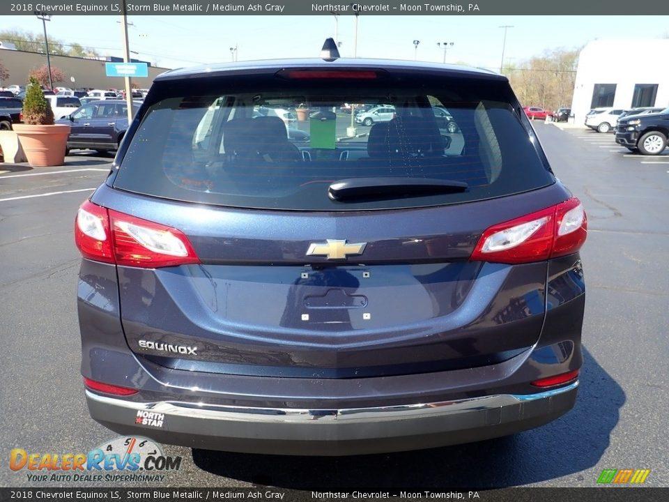 2018 Chevrolet Equinox LS Storm Blue Metallic / Medium Ash Gray Photo #6
