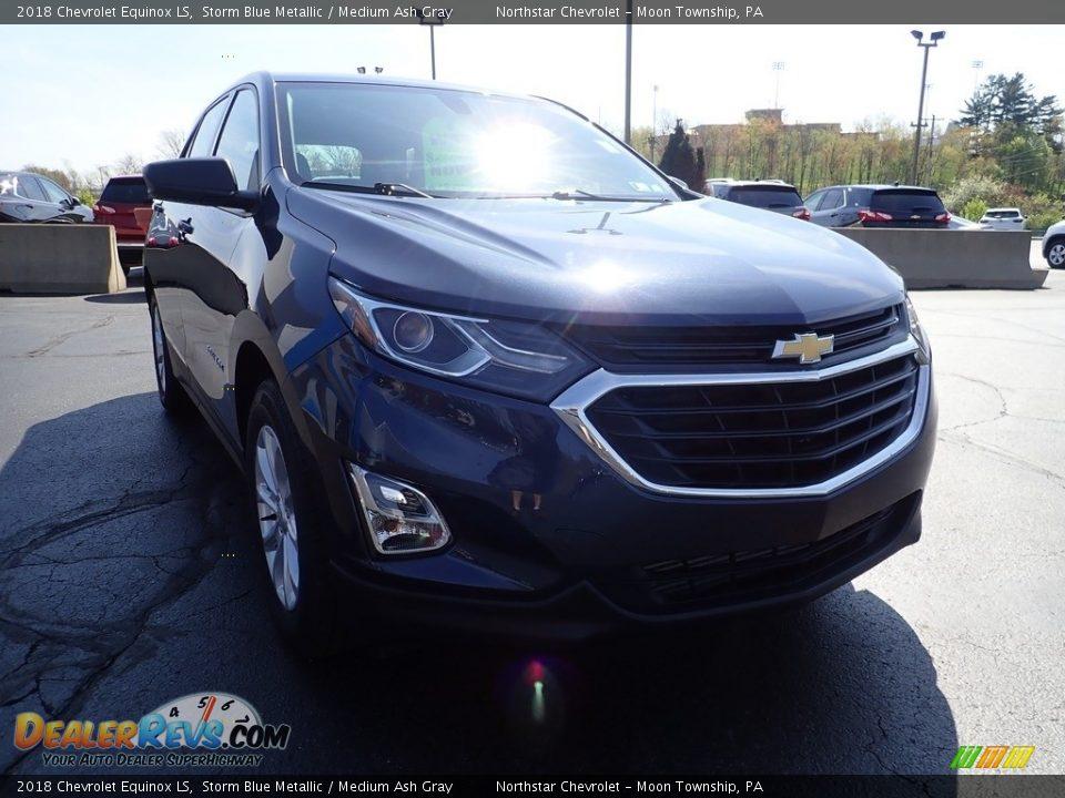 2018 Chevrolet Equinox LS Storm Blue Metallic / Medium Ash Gray Photo #12