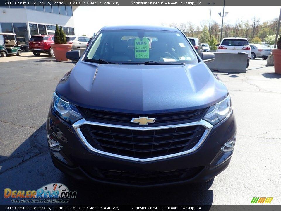 2018 Chevrolet Equinox LS Storm Blue Metallic / Medium Ash Gray Photo #13