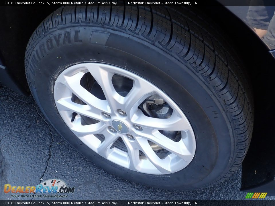 2018 Chevrolet Equinox LS Storm Blue Metallic / Medium Ash Gray Photo #14