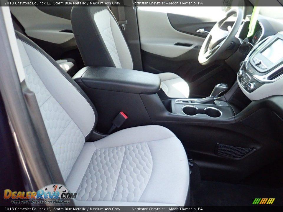 2018 Chevrolet Equinox LS Storm Blue Metallic / Medium Ash Gray Photo #15