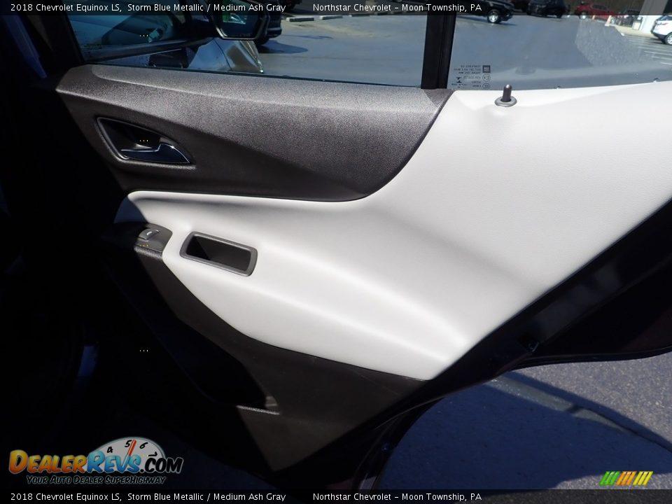2018 Chevrolet Equinox LS Storm Blue Metallic / Medium Ash Gray Photo #19
