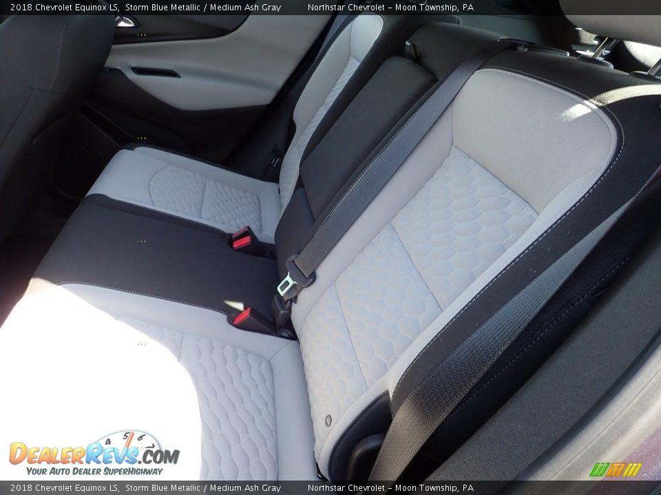 2018 Chevrolet Equinox LS Storm Blue Metallic / Medium Ash Gray Photo #21