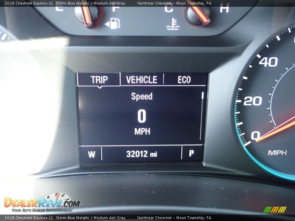 2018 Chevrolet Equinox LS Storm Blue Metallic / Medium Ash Gray Photo #29