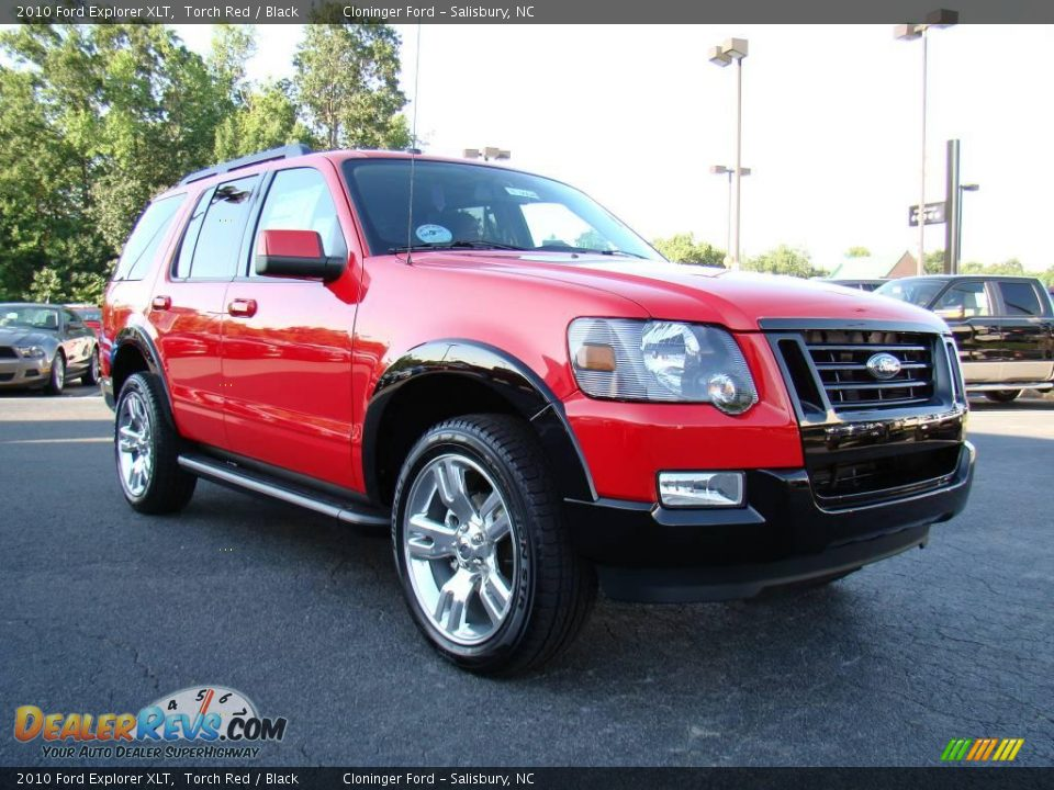 2010 Ford Explorer Xlt Torch Red Black Photo 1 Dealerrevs Com
