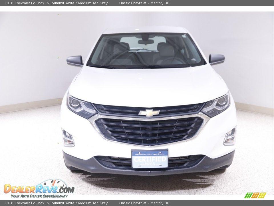 2018 Chevrolet Equinox LS Summit White / Medium Ash Gray Photo #2