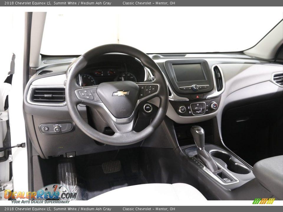 2018 Chevrolet Equinox LS Summit White / Medium Ash Gray Photo #6