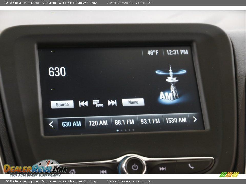 2018 Chevrolet Equinox LS Summit White / Medium Ash Gray Photo #10