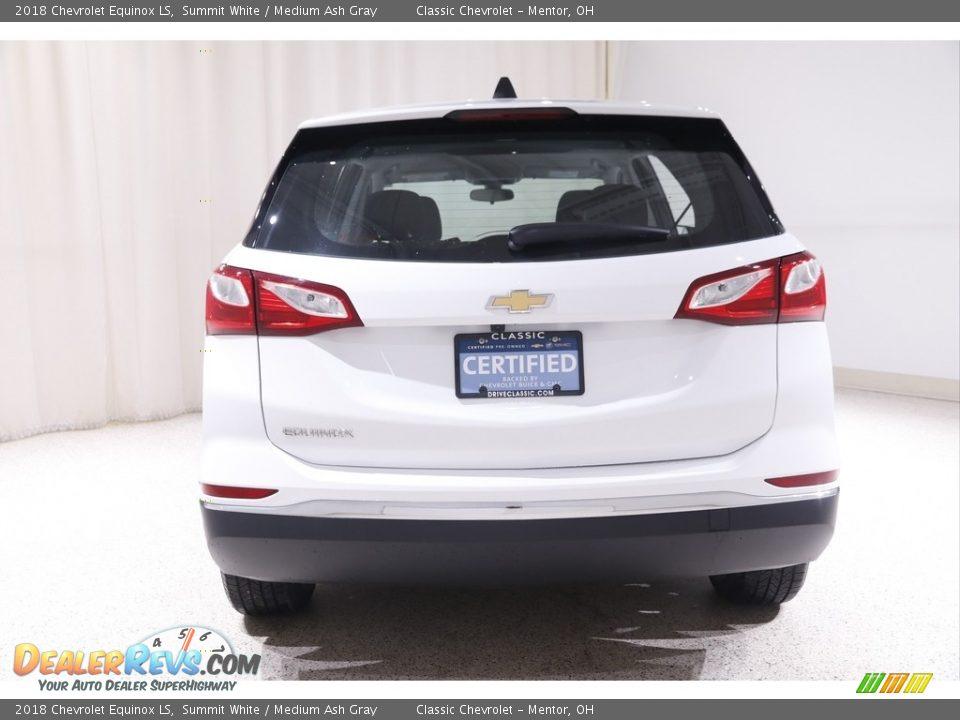 2018 Chevrolet Equinox LS Summit White / Medium Ash Gray Photo #16