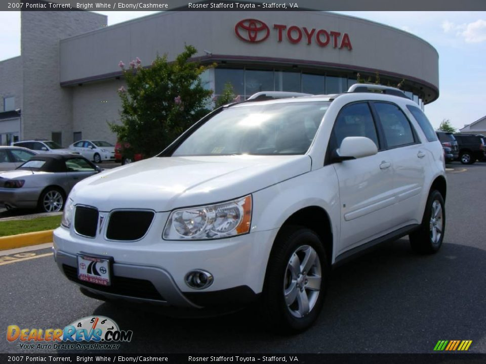 2007 pontiac torrent bright white ebony cashmere photo 1 dealerrevs