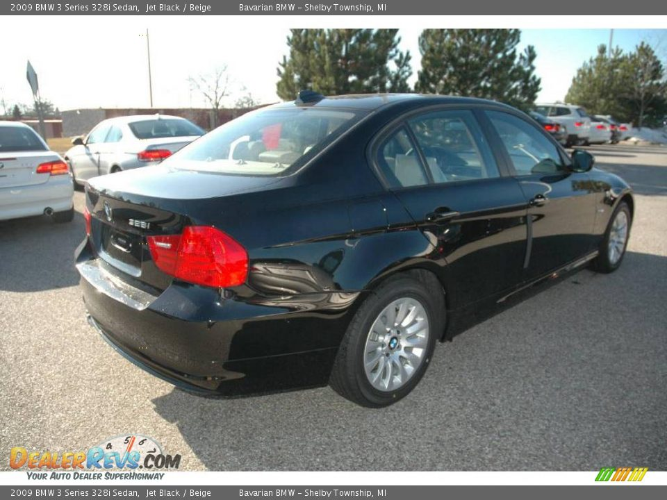 2009 bmw 3 series 328i sedan jet black beige photo 5. Black Bedroom Furniture Sets. Home Design Ideas