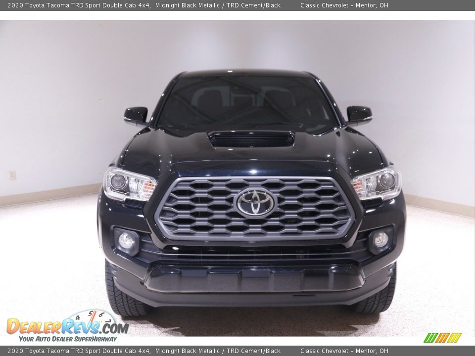 2020 Toyota Tacoma TRD Sport Double Cab 4x4 Midnight Black Metallic / TRD Cement/Black Photo #2
